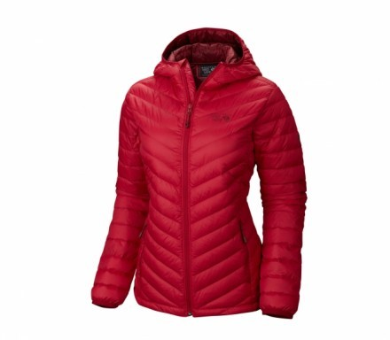 Mountain Hardwear - Micro Ratio Hooded Dam Dunjacka (röd) - XL