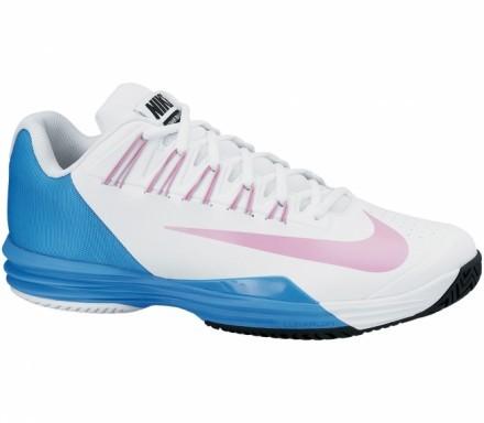 Nike - Lunar Ballistec Herr tennisskor (vit/blå) - EU 40,5 - US 7,5