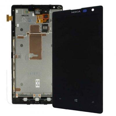 Nokia Lumia 1520 - Komplett LCD & Digitizer med ram, Svart