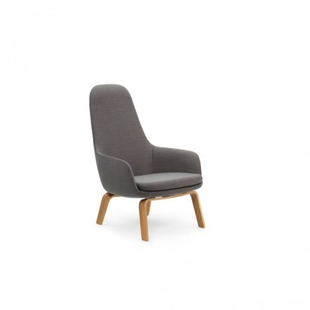 Normann Copenhagen Era Lounge Stol hög, Breeze Fusion 4004 / Ek