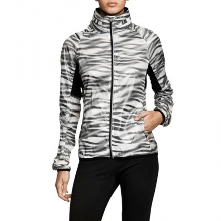 Polly Jacket, white wave, L