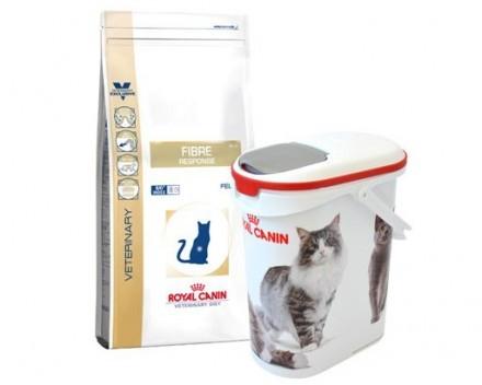Royal Canin Veterinary Diets Cat Fibre Response 4 kg + Curver på köpet