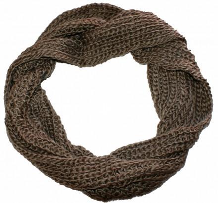 Stickad halsduk macchiato brun