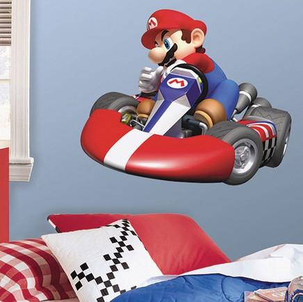 Stor Mario kart väggdekal