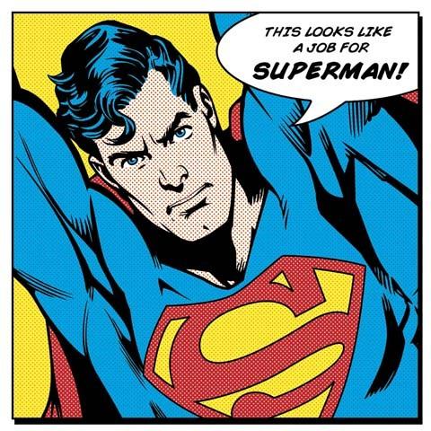 Superman Canvas tavla