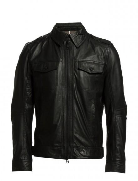 Trey Black Leather