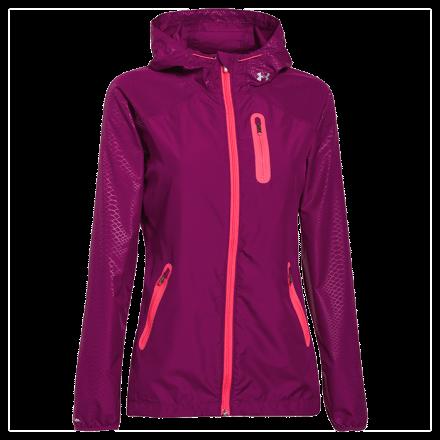 Under Armour Qualifier Woven Jacket, pink shock, M