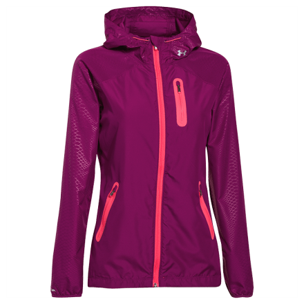 Under Armour Qualifier Woven Jacket, pink shock, XS