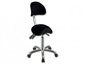 Ergonomisk sadelstol med ryggstöd